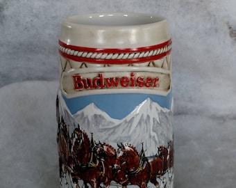 Vintage 1985 Budweiser Stein