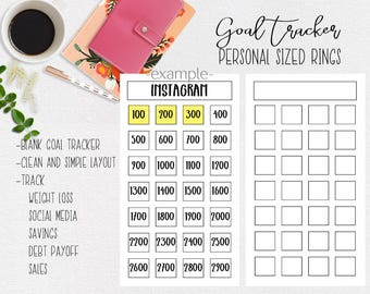 Goal Tracker for Personal Sized Ring Planner