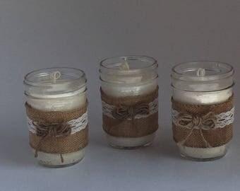 Mason jar candle 8 oz