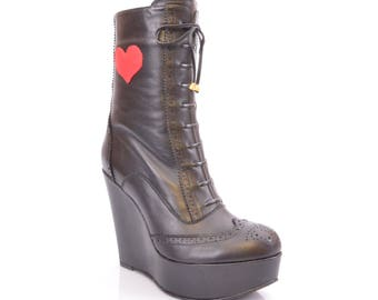 ateliermc.de no. 50311 MINUSH LOVE BOOTS Platform Boots Lined Dance Party