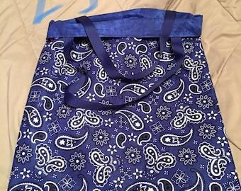 Handmade Reversible Bandana/Paisley Bag