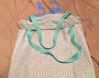 Handmade Reversible Polka Dots/Stripes Bag