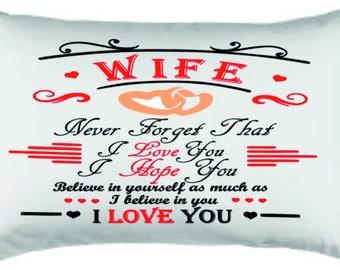 husband /wife pillow case