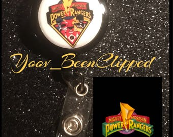 Power-Rangers  Retractable Badge holder