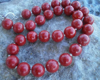 """Foam Coral Necklace """"Classic"""" 12 mm #576"""