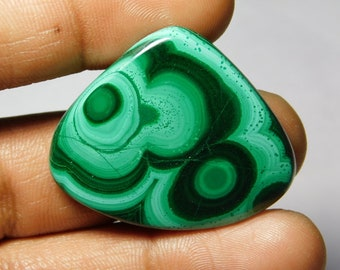 Top quality Malachite Cabochon,Loose Stone,Gemstone,Gorgeous Malachite Cabochon Excellent Gemstone 100%Natural 62.45cts.(32x38x4)mm