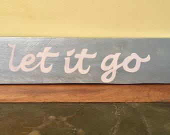 Handpainted reclaimed wood sign