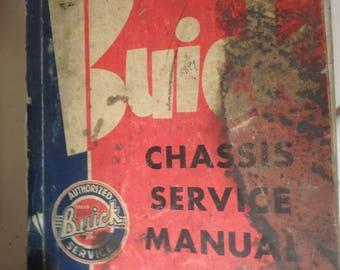 1958 Buick chassis service manual-loose and missing back cover-complete