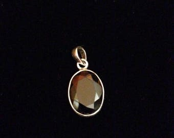 Red Stone Silver Pendant