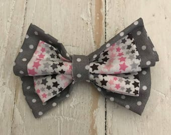 Layered Fabric Hair Bows