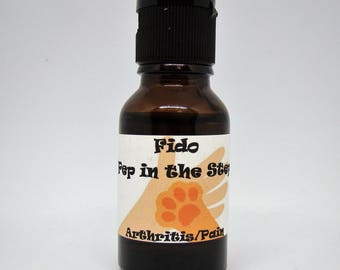 "Dog Sir Dudley's Fido ""Pep in the Step"" Arthritis Blend with All Natural Essential Oils for Topical Application"