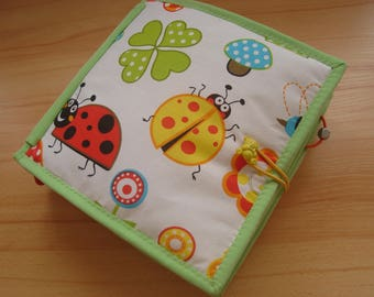 Quiet Book, Fabric Activity Book, Busy Book