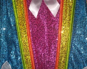 Rainbow corset sparkle/sequin corset