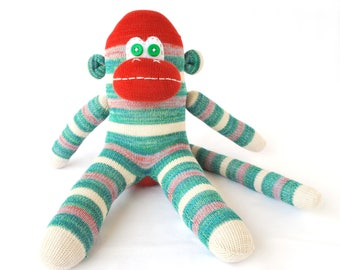 Sock Monkey Toy Doll - The Hank Monkey