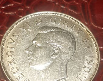 1943   Canada 50 cents silver Half Dollar