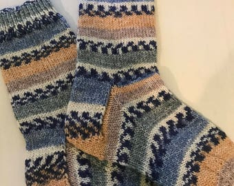 Hand knitted child's socks