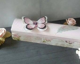 Pencil box powder pink shabby