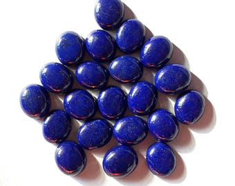 Top Quality!!! LAPIS lazuli  oval shape with Exotic Cobalt blue colour with gold spot