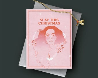 Beyoncé - Christmas/ Holiday/ Funny/ Greeting Card