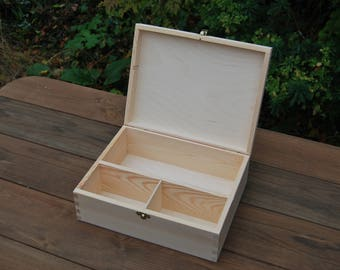 Wooden Box For Alcohol, Lockable Latch For Decoupage