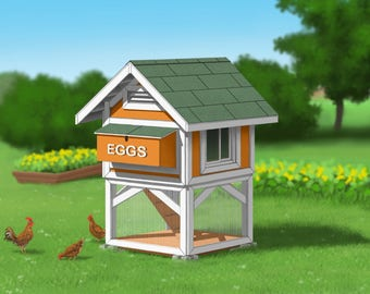 cosy designs for chicken houses. Chicken Coop Plans  Mini Gingerbread Duck House PDF Room in for up to 6