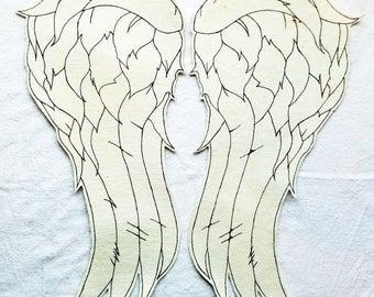 """18"""" Daryl dixon denim wings"""