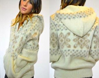 tundra icelandic wool hooded zip up jacket