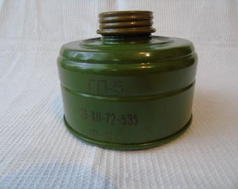 USSR \ Russian mask filter \ Vintage filter for gas mask \ made in the USSR \ Soviet Army \ GP-5 \ in good condition.