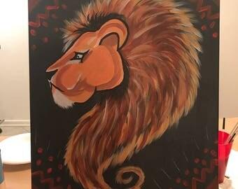 "16""x20"" Lion Head"