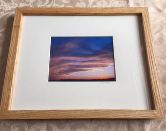 Framed Indiana Sunset Print