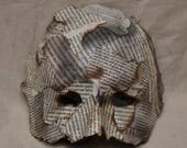 Burnt Manuscript Mask - 'Lost Knowledge'