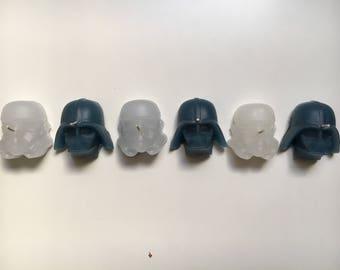 Star Wars Homemade Candles (Stormtrooper & Darth Vader)