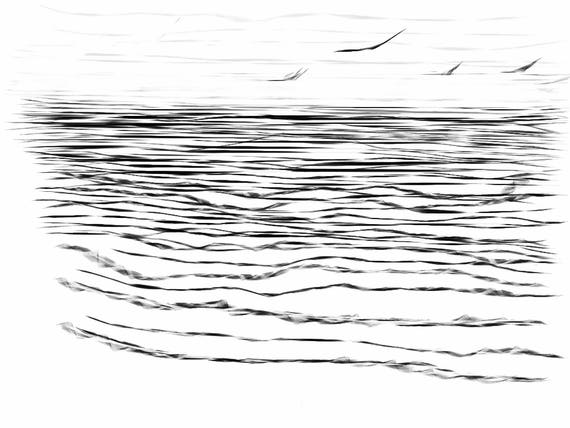 Tide 3 -  Thames Estuary - Chalkwell Beach  - February 2018 - Minimalist Fine Art Print.