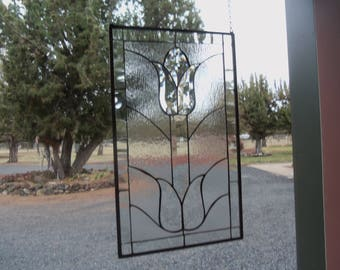 Beautiful Beveled Tulip Stained Glass