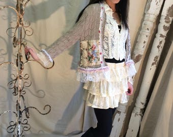 Romantic Magnolia Chic Sweater
