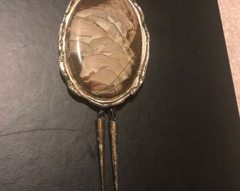 Vintage Rock Bolo Brown and Off-White