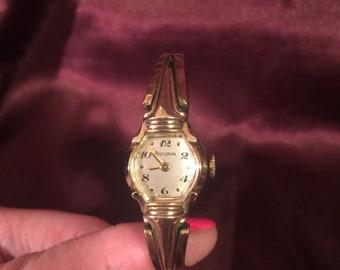 Vintage Bulova Women's wrist watch- 10k Gold filled