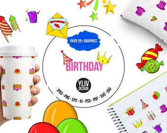 Birthday svg, png, eps, dxf, psd, ai cut file