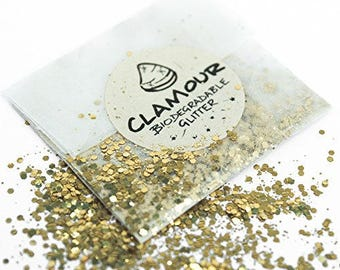 Biodegradable glitter in Biodegradable envelope and sticker