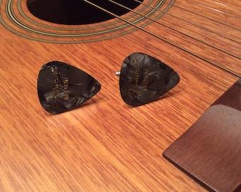 Black pearl fender guitar cufflinks