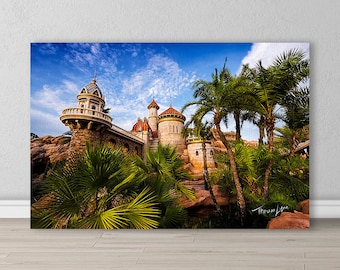 Prince Eric's Castle (The Little Mermaid), Walt Disney World, Orlando, Florida. Wall Decor, Gifts, Art, Photography, Canvas, Metal Prints