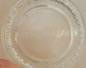 Vintage Presto Glass Canning Jar Lid Pat. No. 1702795