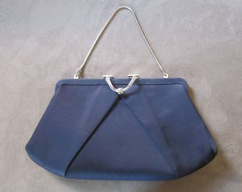 Vintage 1950's HL USA Navy Evening Clutch