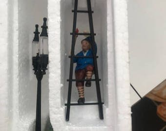 Department 56 - Heritage Village Collection - Handpainted Porcelain Accessories - Lamplighter Accessory Set