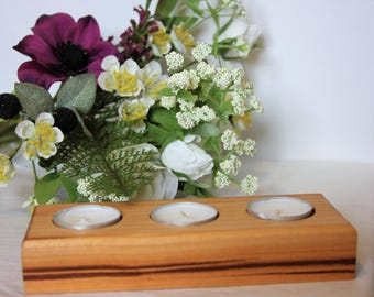 Wooden tealight holder. Candle holder. Great Mother's day gift.