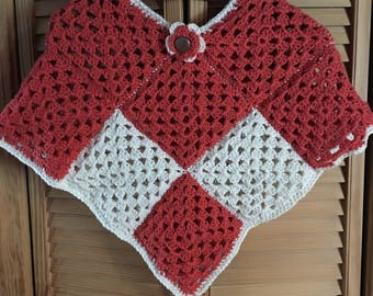 Crocheted Girl's Poncho