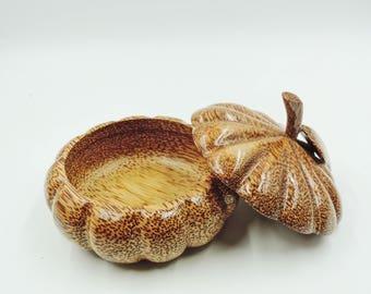 Cinderella Pumpkin Coconut wood container
