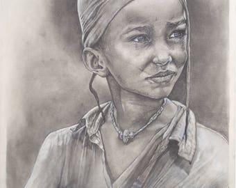 Ethiopian Child Art Print