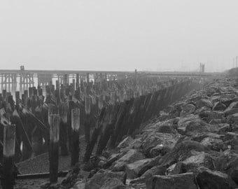 Foggy Pier, Humboldt Bay, Northern California Photography
