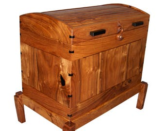 blanket chest made from mesquite wood